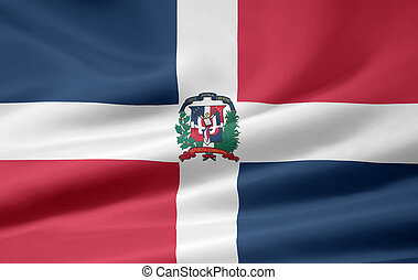 High resolution flag of the Dominican Republic