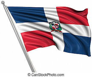 Flag of the Dominican Republic , This is a computer...
