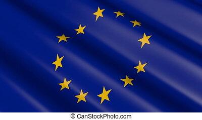 Flag of the European Union (seamless loop)