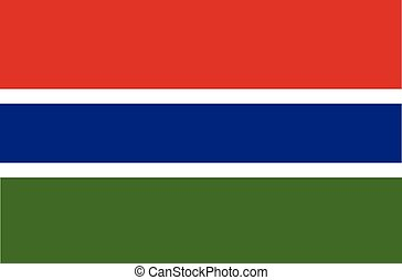 Flag of the Gambia vector illustration