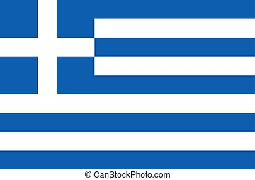 Flag of the Greece. Vector illustration EPS10
