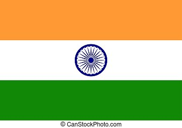 Flag of the India. Vector illustration EPS10
