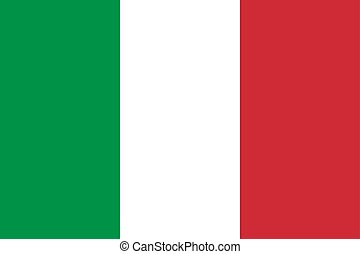 Flag of the Italy. Vector illustration EPS10