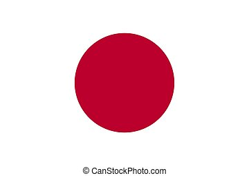 Flag of the Japan. Vector illustration EPS10