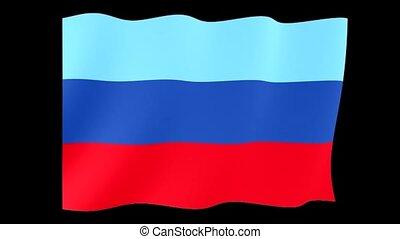 Flag of the Lugansk People Republic. Waving