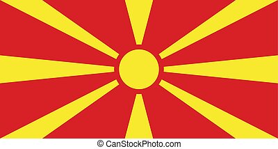 Flag of the Macedonia. Vector illustration EPS10