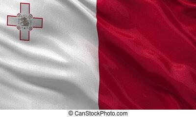 Flag of the Malta seamless loop