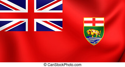 Flag of the Manitoba, Canada. - 3D Flag of the Manitoba,...