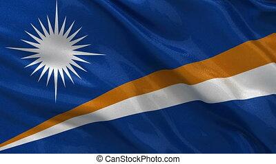 Flag of the Marshall Islands loop