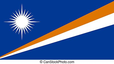 Flag of the Marshall Islands vector illustration