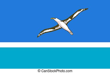 Flag of the Midway Islands. Vector illustration. World flag