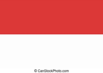 Flag of the Monaco
