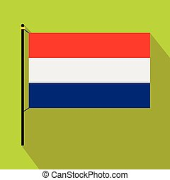 Flag of the Netherlands icon, flat style