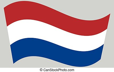 Flag of the Netherlands waving