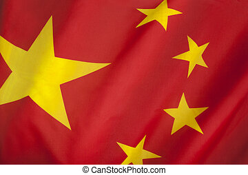 Flag of The Peoples Republic of China. The red represents...