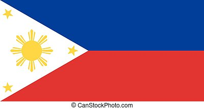 Flag of the Philippines in correct proportions and colors