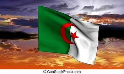 Flag of the Republic of Algeria - new series of video clips...