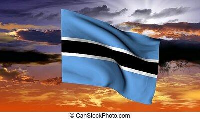 flag of the Republic of Botswana