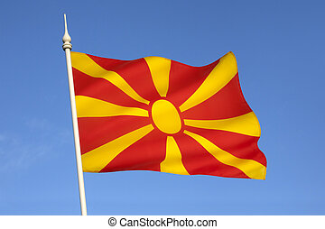 Flag of the Republic of Macedonia.