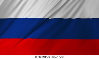 Flag of the Russia waving 2 in 1