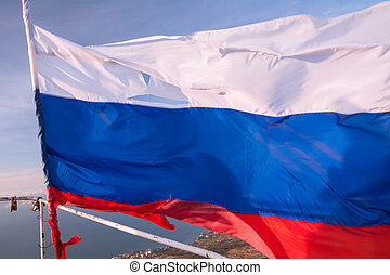 Flag of the Russian Federation in Crimea