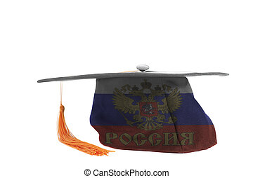 Flag of the Russian Federation on Graduation Cap