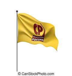 Flag of the Russian political party Fair Russia. Vector illustration on white background