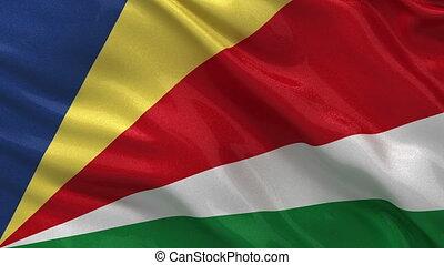 Flag of the Seychelles loop