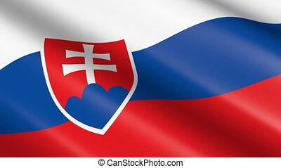 Flag of the Slovakia (seamless loop) - great for topics like...