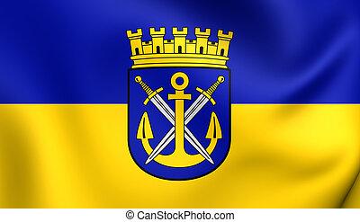 Flag of the Solingen, Germany. - 3D Flag of the Solingen,...