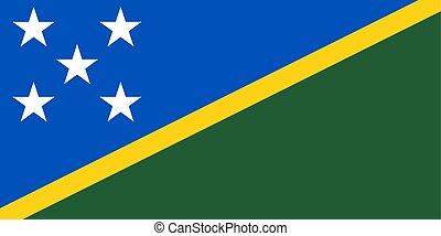 Flag of the Solomon Islands - Solomon Islands vector Flag...