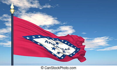 Flag of the state of Arkansas USA
