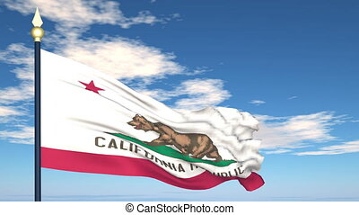 Flag of the state of California USA