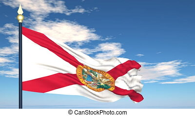 Flag of the state of Florida USA
