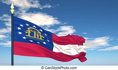 Flag of the state of Georgia USA