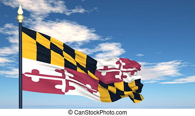 Flag of the state of Maryland USA