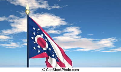 Flag of the state of Ohio USA