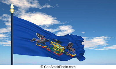 Flag of the state of Pennsylvania USA