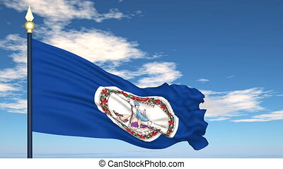 Flag of the state of Virginia USA