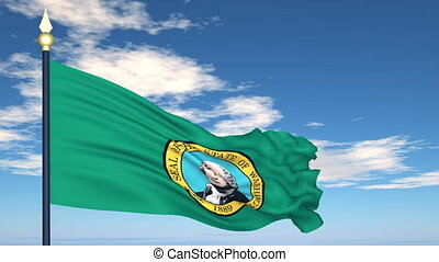 Flag of the state of Washington USA