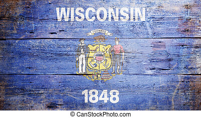 Flag of the state of Wisconsin