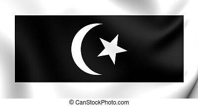 Flag of the Terengganu, Malaysia. - 3D Flag of the...