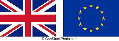 Flag of the UK and EU