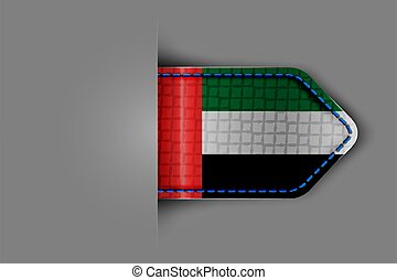 Flag of the United Arab Emirates in the form of a glossy ...
