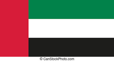 Flag of the United Arab Emirates - National flag of the...