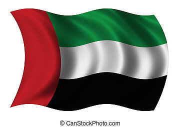 United Arab Emirates - Flag of the United Arab Emirates...