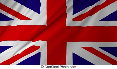 Flag of the United Kingdom animation 2 in 1