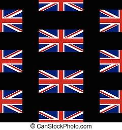 Flag of the United Kingdom seamless pattern