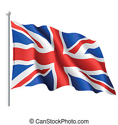 Vector illustration of flag of the United Kingdom