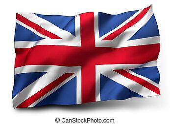 flag of the United Kingdom - Waving flag of United Kingdom ...